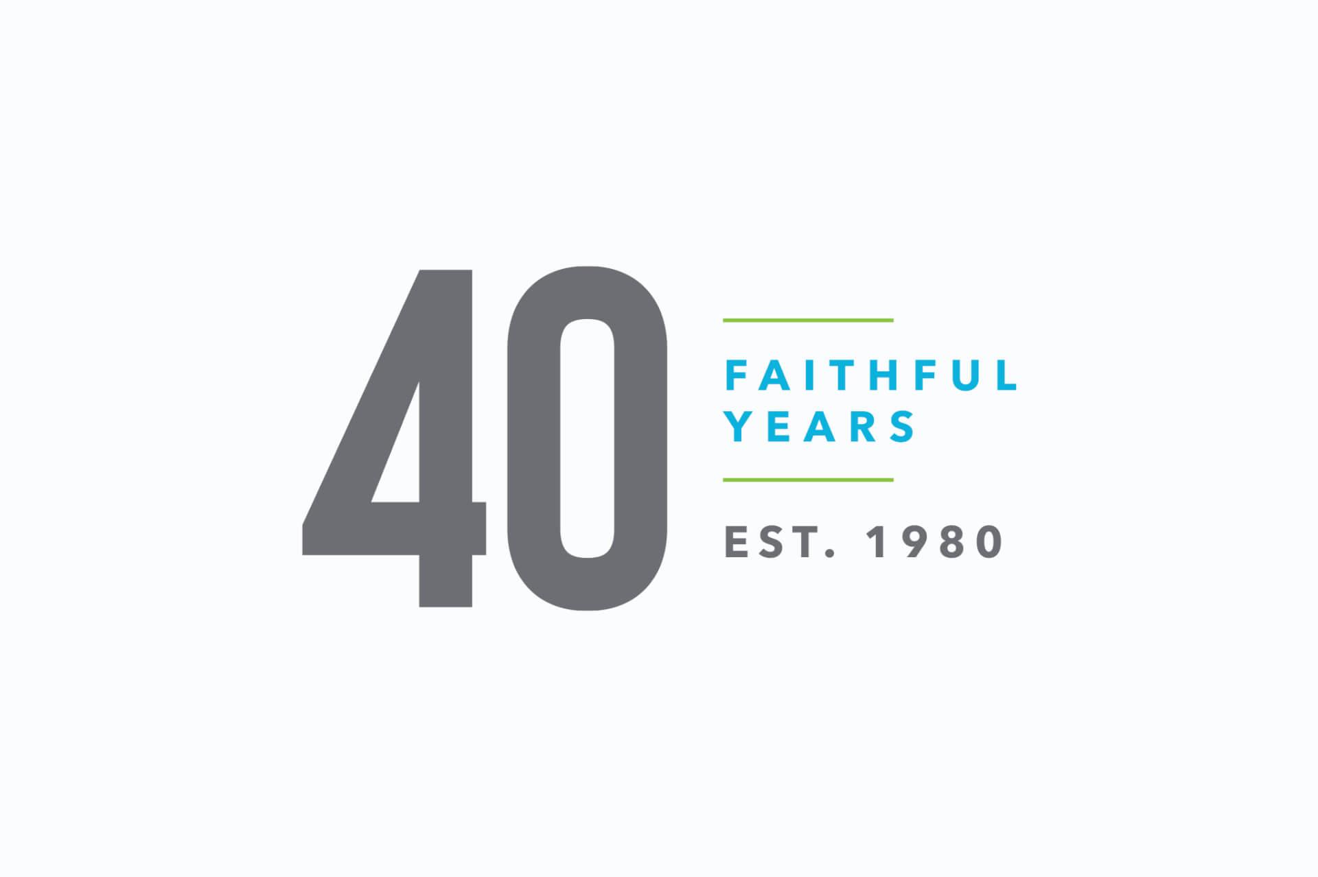 40 Year Celebration Logo
